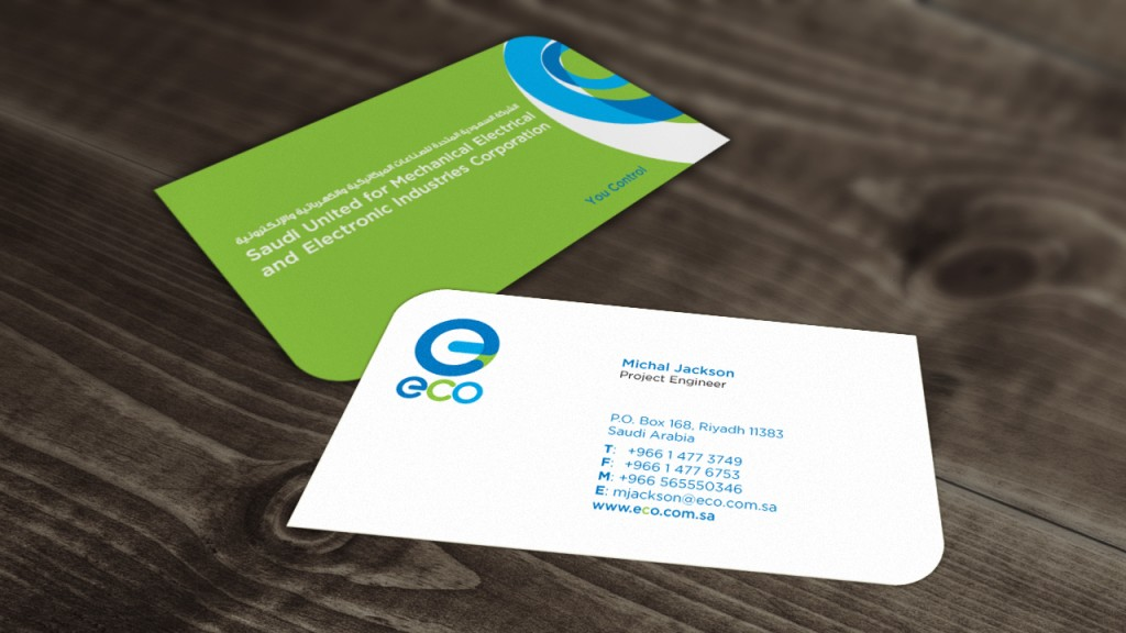 Eco business cards ostar media branding graphic design riyadh eco business cards colourmoves